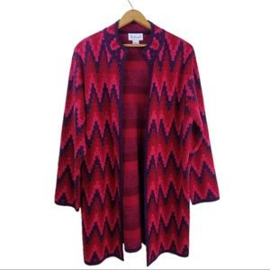 Westbound Long Open Duster Cardigan Size Large